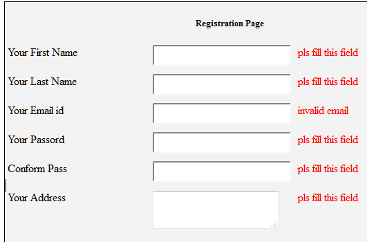 Validating a registration form in php