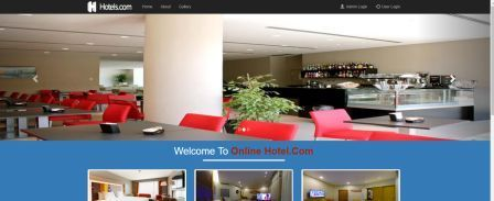 Hotel management home page
